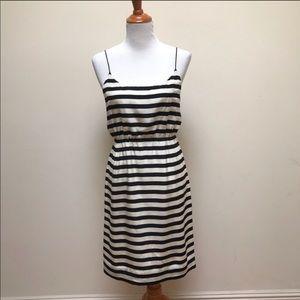 J Crew striped silk dress